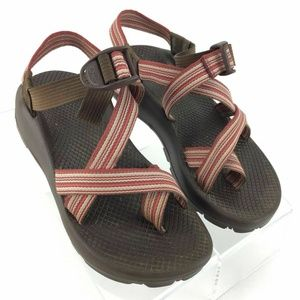 Chaco Z2 Classic Sport Athletic Sandal Brown Red
